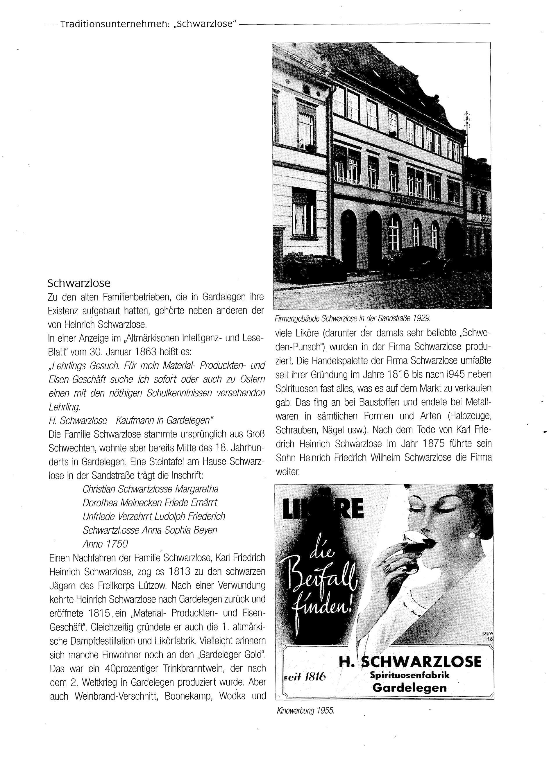 Zeitungsbericht Seite 1